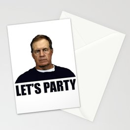 Belichick Lets Party Stationery Cards