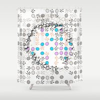 cracked Shower Curtains featuring Cracked by Susann Mielke