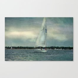 Twilight Sail Canvas Print