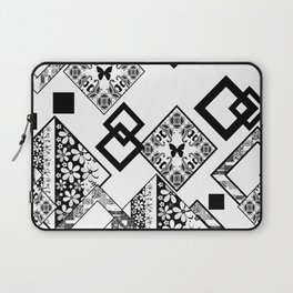 Black and white applique Laptop Sleeve