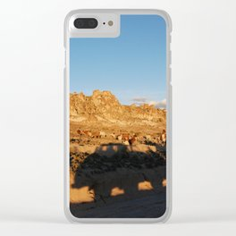 Sunset with shades and lamas Clear iPhone Case
