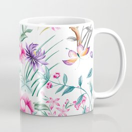 Chinoiserie Decorative Floral Motif Coffee Mug