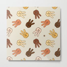 Hiii Power hand sign (remix)  Metal Print