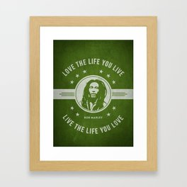 Marley - Green Framed Art Print