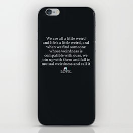006 - OWLY quote iPhone Skin