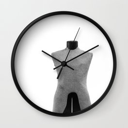 Vintage Dress Form on White Wall Clock
