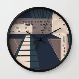 Seattle, Washington state Travel poster Wall Clock