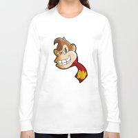 donkey kong Long Sleeve T-shirts featuring DONKEY KONG DIGITAL ART by studio1six