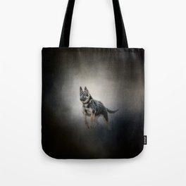 Feet First - German Shepherd Puppy Tote Bag