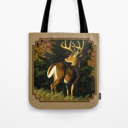 Whitetail Deer Trophy Buck Tote Bag