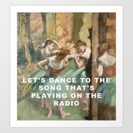 Let's Dance in Pink and Green Art Print
