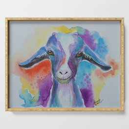 Happy Colorful Goat Serving Tray