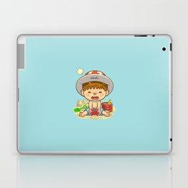 little boy & red crab Laptop & iPad Skin