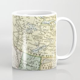 Vintage Map of Canada Coffee Mug