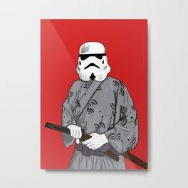 Samurai Storm Metal Print