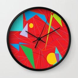 Euclid's Spider Webs Wall Clock