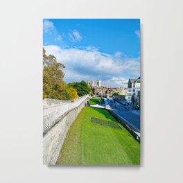 York Walls and Minster Metal Print