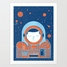 Orange Space Art Print