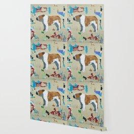English Bulldog Abstract Art Wallpaper