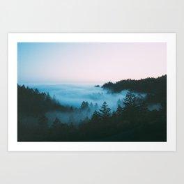 Foggy Marin Sunset Art Print