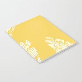 Banana Leaves on Yellow #society6 #decor #buyart Notebook