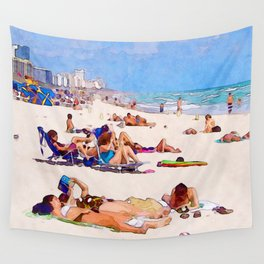 Shores of South Beach Wall Tapestry