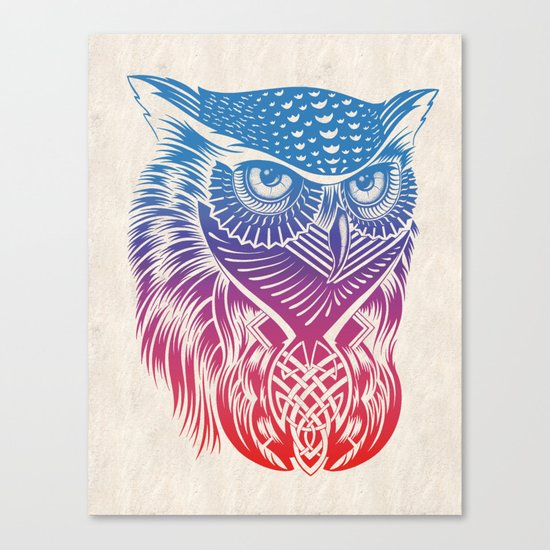 Owl of Color Canvas Print