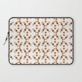 Star pattern in soft browns Laptop Sleeve