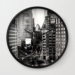 Boston, Massachusetts City Skyline Wall Clock