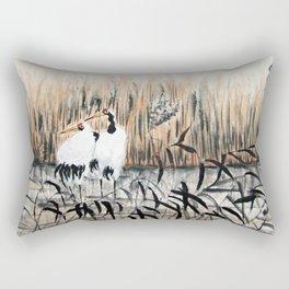 Cranes In The Swamp Rectangular Pillow