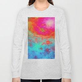 Galaxy : Bright Colorful Nebula Long Sleeve T-shirt