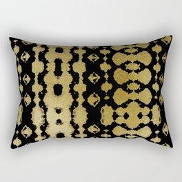 Golden Habatoi Shibori Rectangular Pillow