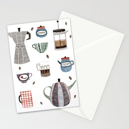 Coffee and Tea Stationery Cards