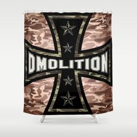 sports Shower Curtains featuring DMolition Sports by DMolition