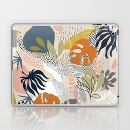 Tropical Foliage Pattern 1 - Retro Boho Laptop & iPad Skin