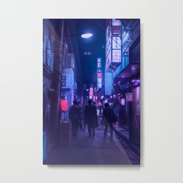 Tokyo Nights / One Minute To Midnight / Liam Wong Metal Print