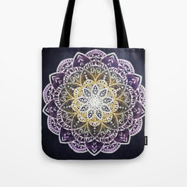 Glowing Mandala Tote Bag