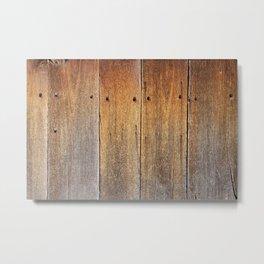 Aged wooden floor Metal Print