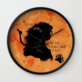 Our Fate Lives Within Us Wall Clock