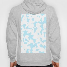 Large Spots - White and Light Blue Hoody