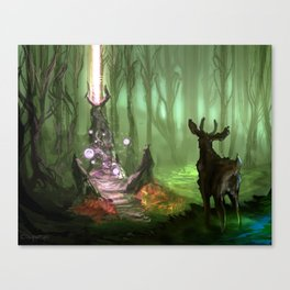 Discovered Shrine Canvas Print