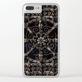 Pretty ornamented gate Clear iPhone Case