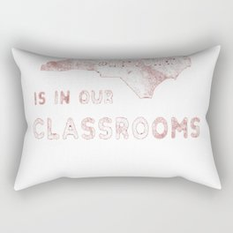 The Future is In Our Classrooms Distressed Shirt Red for Ed Rectangular Pillow