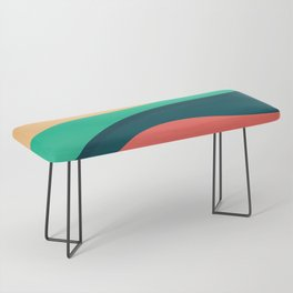 The river, abstract painting Bench