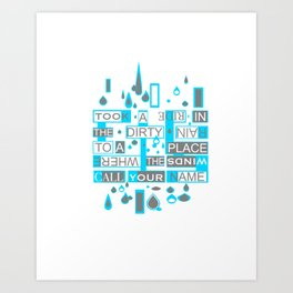 Printed art of a verse of a song, Who's gonna ride From Achtung baby Art Print