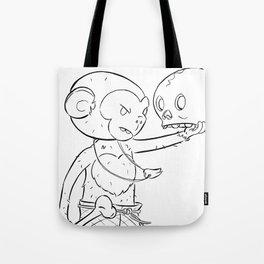 Monkey Pirate - ink Tote Bag