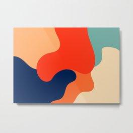 Mid-century Abstract Retro Colors Art 1 Metal Print