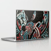 ashton irwin Laptop & iPad Skins featuring Irwin Wolf by Matt Pecson