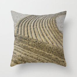 TRACES ON THE SAND Throw Pillow