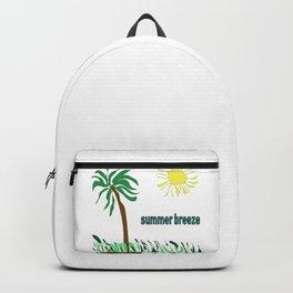 summer breeze minimal sketch Backpack
